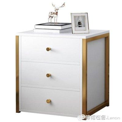 床頭櫃 輕奢床頭櫃簡約現代 ins臥室迷你小型簡易經濟型收納櫃儲物小櫃子WD 雙十二全館免運