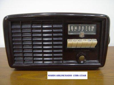 中古收音機 WARDS AIRLINE RADIO 15BR-1536B