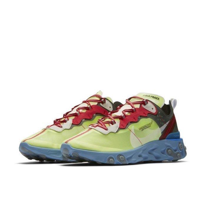沃皮斯§Undercover x Nike React Element 87 螢光綠 BQ2718-700