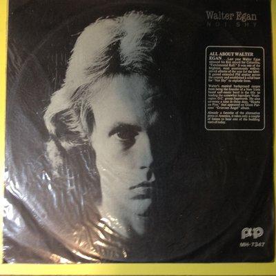 黑膠唱片Walter Egan  NOT SHY 這帥哥唱歌蠻輕柔的