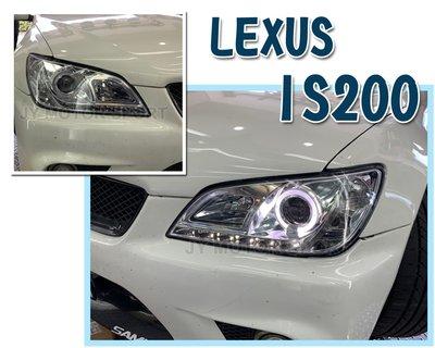 》傑暘國際車身部品《實車 LEXUS IS200 IS300 98-05 年 晶鑽 R8燈眉光圈魚眼 大燈 頭燈