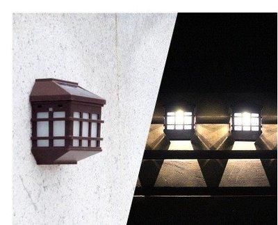 ~綠市集~光控復古壁燈太陽能燈 歐式太陽能籬笆燈 庭院燈戶外燈 白光 黃光 A0157~1