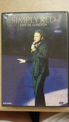 1區英版DVD 就是紅合唱團 SIMPLY RED - Live In London