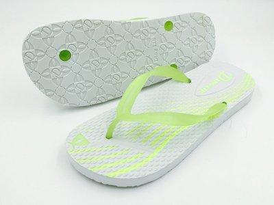 DL 夜光系列 海灘拖鞋/涼鞋 FIREFLY II STREAMLINE/白底綠光