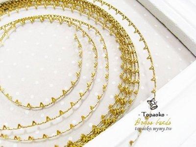 串珠材料˙隔珠配件 黃銅無電鍍蕾絲爪鑲包邊條一份15cm【DA80】4mm飾品金屬蕾絲爪條DIY《晶格格的多寶格》