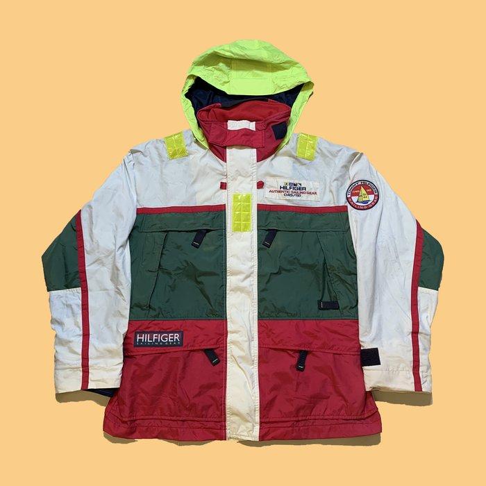 JCI:Vintage Tommy Hilfiger 經典款反光機能風衣外套 90s / 古著 / Polo Sport