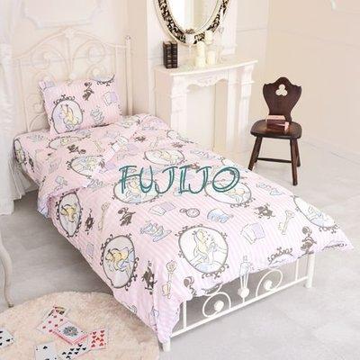 ~FUJIJO~日本存貨款~日本迪士尼DISNEY限定販售【愛麗絲夢遊仙境】Alice's  單人3件式床包組床組 B款
