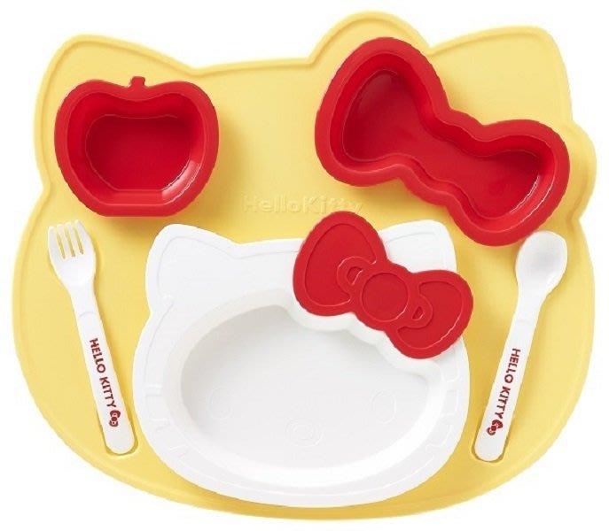 41+ 現貨不必等 Y拍最低價 日本進口 日本製 KITTY 學習餐具 兒童餐 蝴蝶結 叉子 湯匙 碗 盤子 小日尼三