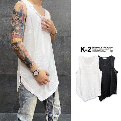 【K-2】韓國 長版 尖角背心 長版 內搭背心 三角 開岔 健身 運動 男女不拘 素色 素面背心【S99102】