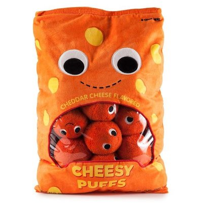 Kidrobot CHEESY PUFFS 起司球起士球 抱枕 填充玩具玩偶 絨毛娃娃 生日禮物 YUMMY WORLD