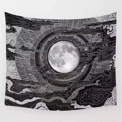 小預算佈置術浮世繪月亮裝飾掛布壁畫直播背景Decorative Cloth Hanging Cloth Mural