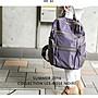 EmmaShop艾購物-ROSE NOIRE日本正韓國連線真皮革防水尼龍後背包/防潑水新款雙肩包托特包