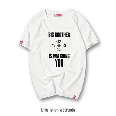 喬治奧威爾Big brother《1984》復古懷舊T恤短袖文化衫衣服