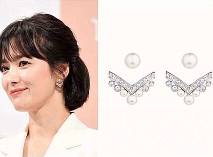 韓國飾品現貨 宋慧喬同款 女神氣質耳針 925銀針 韓妞必備