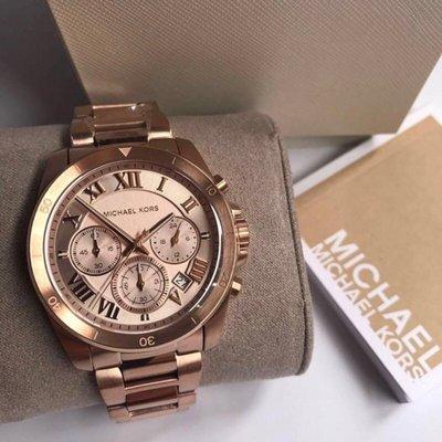 Michael Kors 玫瑰金 羅馬 鋼帶 三眼計時 MK錶 MK手錶 手錶 MK MK6367