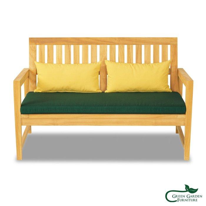 杜拜 柚木雙人沙發椅(原色)【大綠地家具】100%印尼柚木實木/無上漆原木款/實木沙發