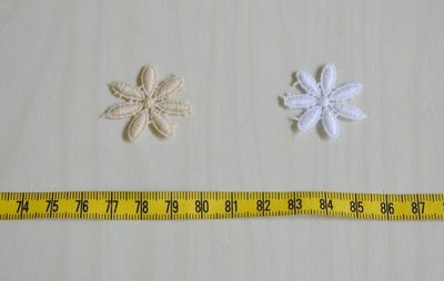 *巧巧布拼布屋*日本進口~#6125白色,深米色蕾絲花片-單片入 / 拼布包裝飾 / 拼布材料