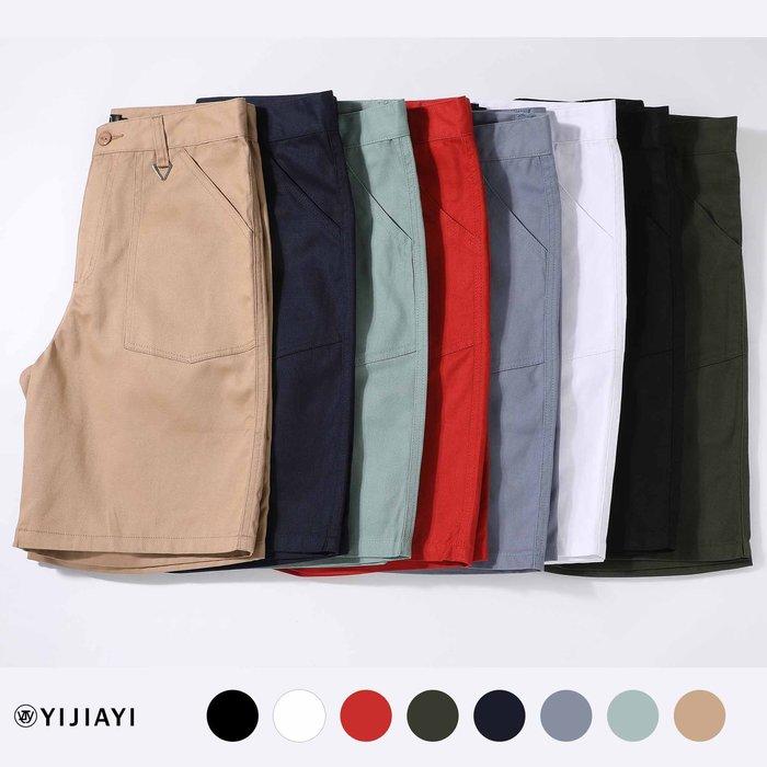 【預購7天】【YIJIAYI】夏日 必備 高磅 舒適 簡約 素面 工作 短褲【A廠】(A-88926)