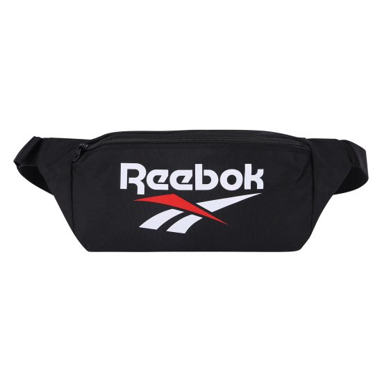 T☆【Reebok配件館】☆【Reebok LOGO單肩包/腰包】☆【RBW003D2】(黑色)10/28到貨
