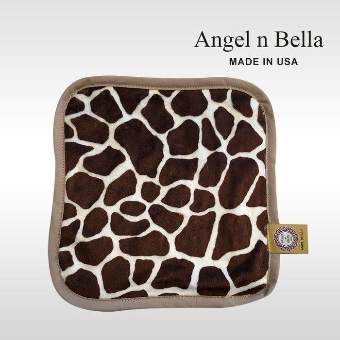 ☆°Angel n Bella.╯☆°【美國製】頂級時尚動物紋手帕-經典長頸鹿 (糖果豆手帕)