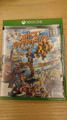 Xbox one 遊戲 落日飆神首日版 二手九成新 實體光碟遊戲 英文版 英文語音