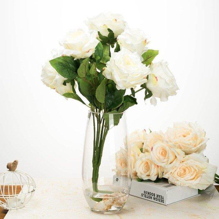 麥麥部落 花瓶歐式百搭插花恐龍蛋造型花器簡約式式彩色玻璃客廳裝飾MB9D8