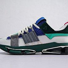 D-BOX  Adidas Consortium Twinstrike ADV 氣墊 網面 透氣 慢跑鞋 深綠灰藍粉