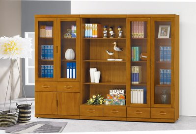 【南洋風休閒傢俱】書架 書櫃 書櫥 展示櫃 收納櫃 造形櫃 置物櫃系列-柚木色開放式書櫥 CY406-678