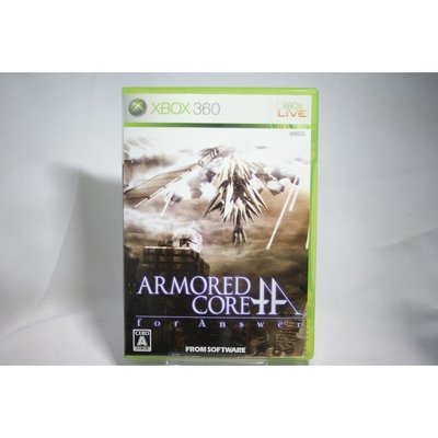 [耀西]二手 純日版 XBOX 360 機戰傭兵 Armored Core for Answer 含稅附發票
