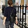 【寶貝日雜包】日本雜誌熱銷黑色皮革鍊條單肩包 手提包 肩背包 馬鞍包 托特包 側背包