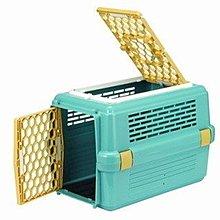 皇冠ACEPET上開式雙門寵愛籠 小型犬貓狗外出提籠 運輸籠 車載籠#843天窗款(青色)550元