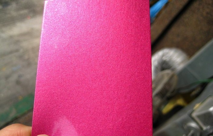 【振通油漆公司】日本ROCK原裝汽車烤漆 補漆 DIY 自板色卡 桃紅水晶 100g