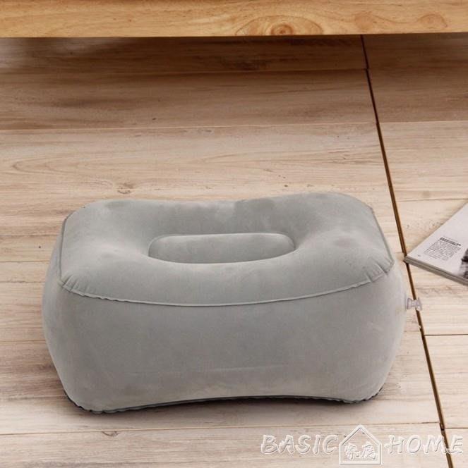 充氣腳墊汽車充氣腳墊長途飛機旅行睡覺神器腿歇充氣枕頭飛行腳凳便攜足踏 夏季上新