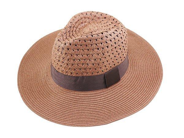 金城武同款通用型限定帽子/大頭圍 60cm / 流行(咖啡色帶4cm)寬邊(10cm)加大帽沿軟藤紳士帽-棗紅色