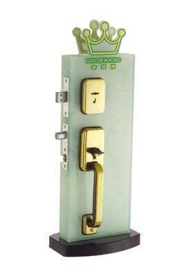 【台北鎖王】GOLDEN KING金冠牌SC2207-30 雙把手鎖-葉片式鎖匙 輔助鎖 2207
