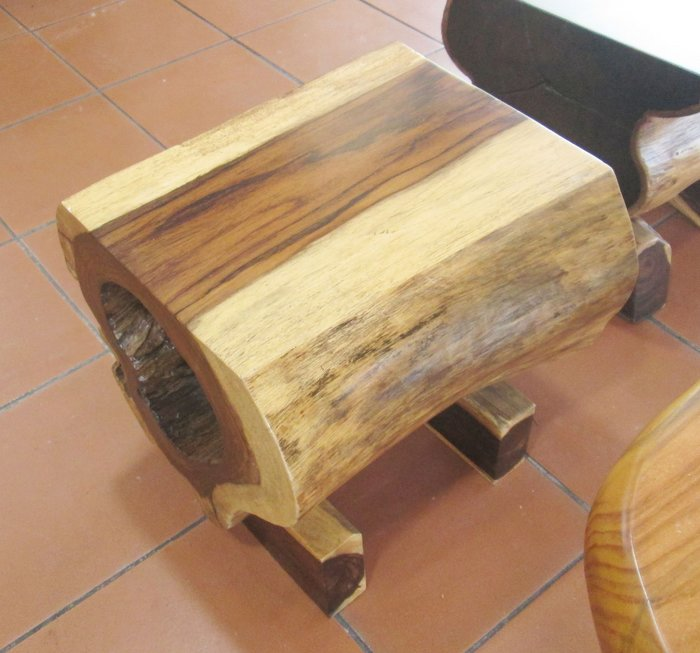 【肯萊柚木傢俱館】珍藏品 大塊紫檀木實木 奇木板凳 擺件 限量收藏(單只)