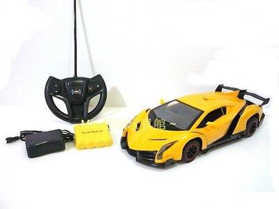 Mini酷啵玩具館~1/ 16 1:16 充電版-仿真外型毒藥藍寶堅尼遙控車 遙控跑車~黃色 桃園市