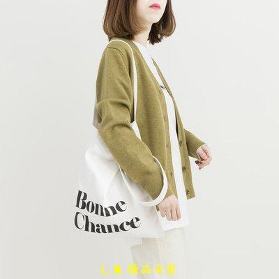 LM精品女裝 大段對白/早安日記春季  新款針織衫女開衫長袖V領短款毛衣外套