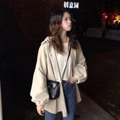 2018新款韓版寬鬆百搭學生中長款開衫...