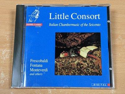 【駱克二手古典CD】QUAGLIATI FRESCOBALDI FONTANA LITTLE CONSORT 德國版