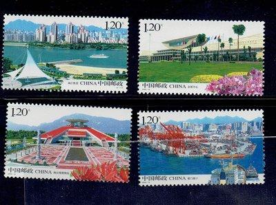 旅遊景觀類-中國大陸郵票- 2008-14 -海峽西岸建設-4全