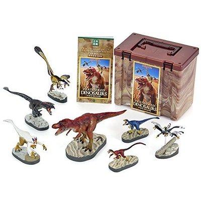 日本正版 立體圖鑑擬真模型BOX 有羽毛恐龍 7種組 小模型 小公仔 日本代購