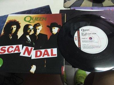 黑膠LP_唱片 單曲 保存如新 Queen / Scandal 贈海報