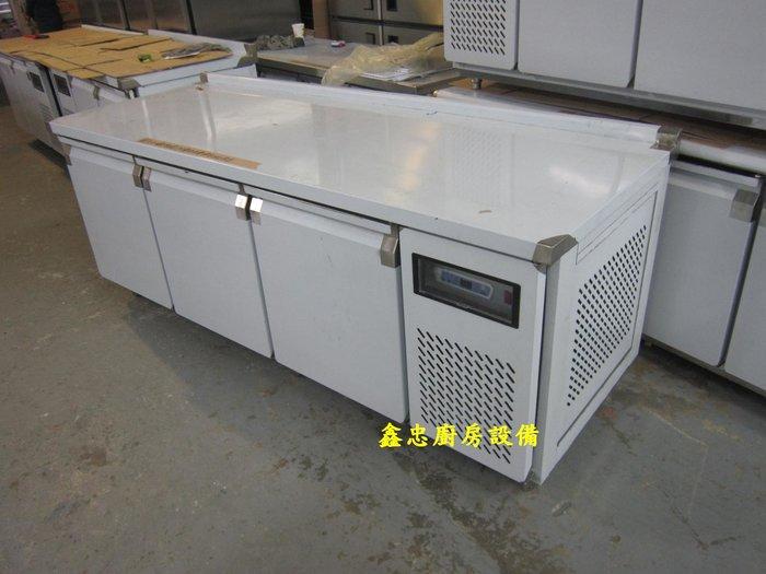 鑫忠廚房設備-餐養設備:手工冰箱系列-七尺工作檯冰箱-賣場有-西餐爐-烤箱-水槽-快炒爐