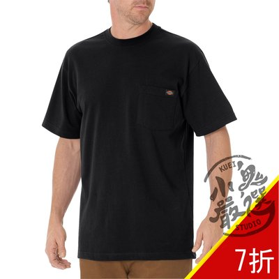 小鬼嚴選 DICKIES HEAVYWEIGHT T 男女 重磅 口袋 黑色 短T WS450BK