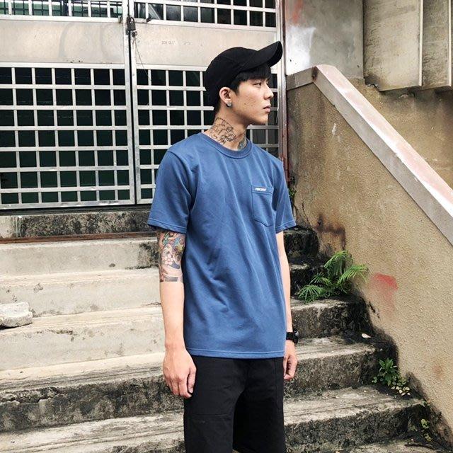 藤原本鋪 PERCENT% PC電繡口袋短T 藍色