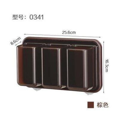 【優上】日本進口inomata 廚房紙巾盒 磁石捲紙架 紙巾捲紙筒(三格 咖啡色)