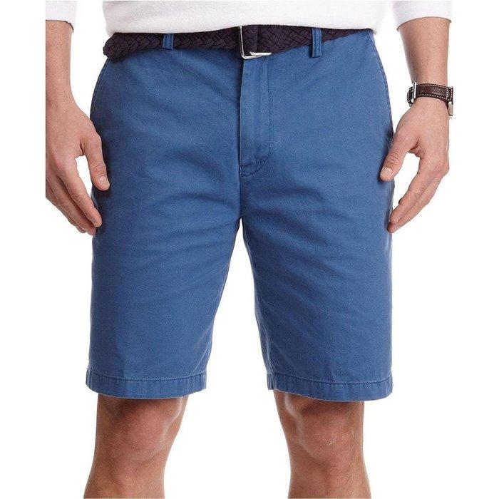 美國百分百【全新真品】Nautica 短褲 帆船牌 休閒褲 百慕達褲 素色 五分褲 褲子 藍色 32腰 G522