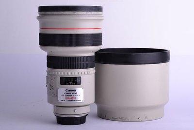 【台中品光攝影】鏡片完美 CANON 傳奇EF鏡 200mm F1.8 L USM 附遮光罩ET-123 #CX0094