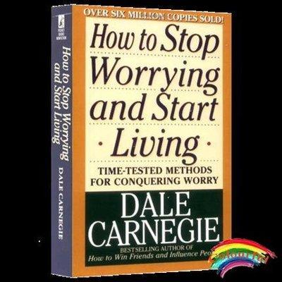 人性的優點英文原版 成功勵志書籍  How to Stop Worrying and Start Living 克服憂慮獲得成功 便攜本 戴爾卡耐基 西方人文暢